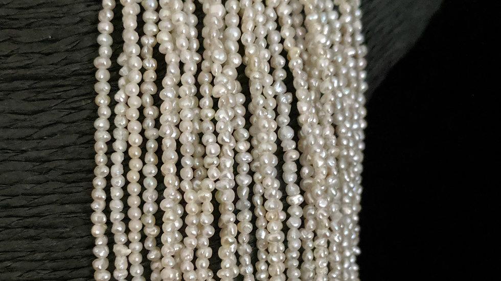 Japanese Akoya Saltwater Keshi Pearls Item N-282-55E