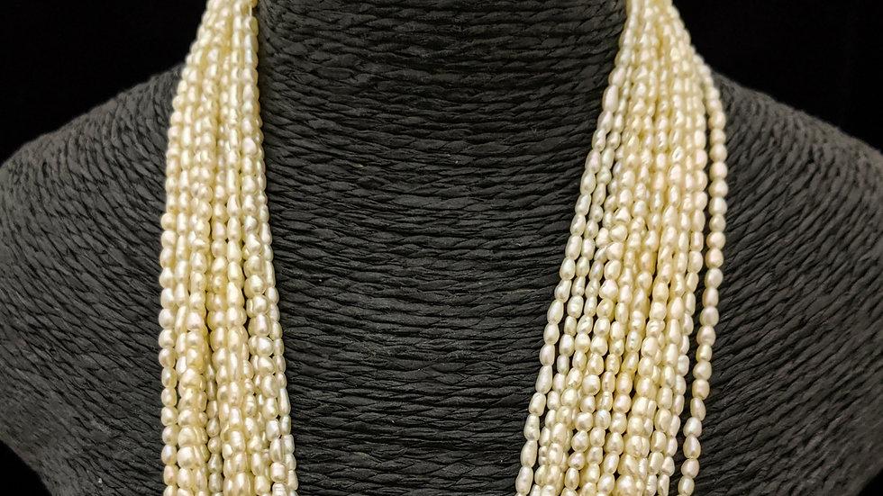 Golden Japanese Akoya Saltwater Keshi Pearls Item L-174-30G