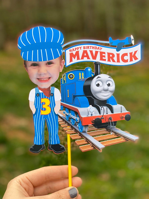 Thomas and Friends Train Cake Topper and Cupcake Toppers
