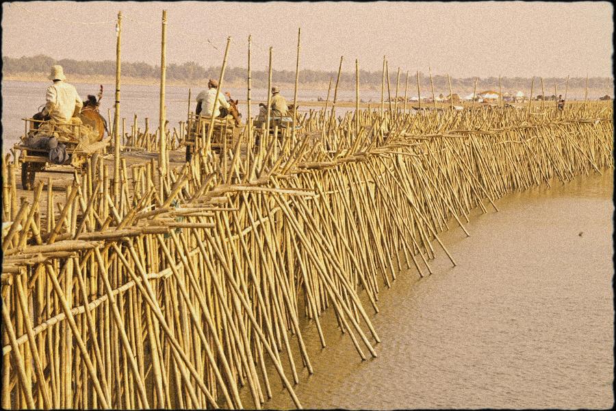 Hand made bridge in Kampong Cham