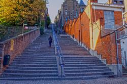 Stairs of buren Liege