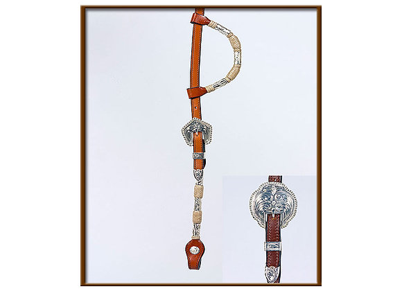 Steve Guitron Show Headstall Braiding with Silver