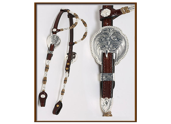 Steve Guitron 2-Ear Chocolate Headstall with Silver