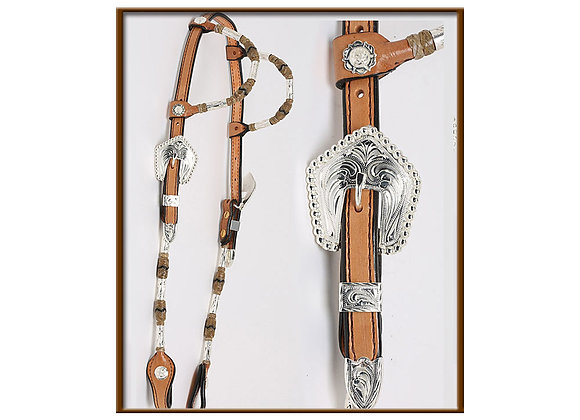 Steve Guitron 2-Ear Light Oil Headstall with Silver