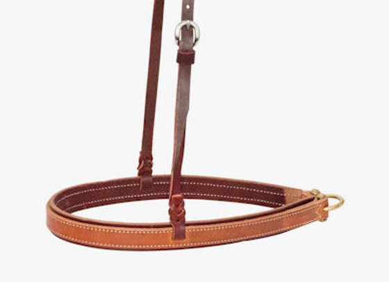 "Partrade Wildfire Saddlery 1-1/4"" Latigo Noseband With Harness Overlay"