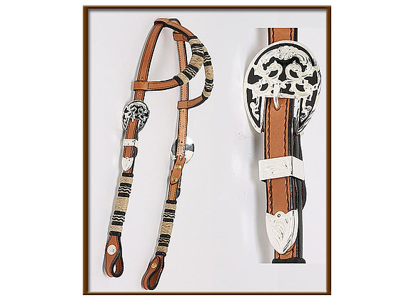 Steve Guitron 2-Ear with Classic Rawhide Braiding Headstall