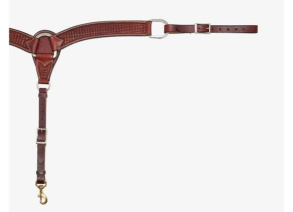 "Partrade Wildfire Saddlery Rosewood Spider Stamp 2"" Breast Collar"