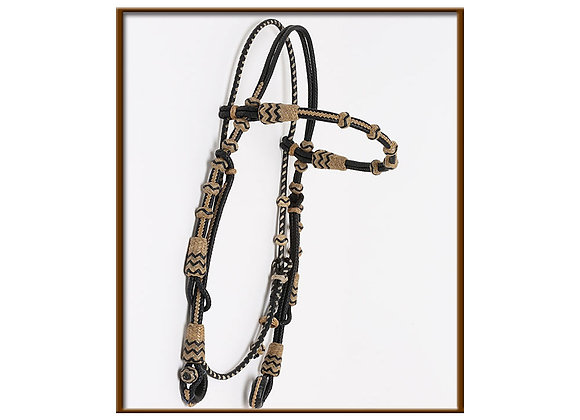 Steve Guitron Browband Headstall Rawhide