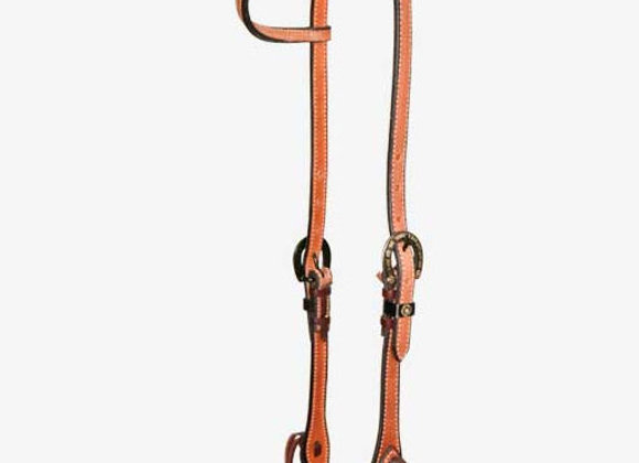 Partrade Wildfire Saddlery Rough Out Slip Ear Headstall