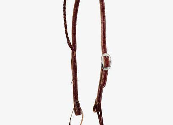 Partrade Wildfire Saddlery Latigo Braided Single Ear Headstall