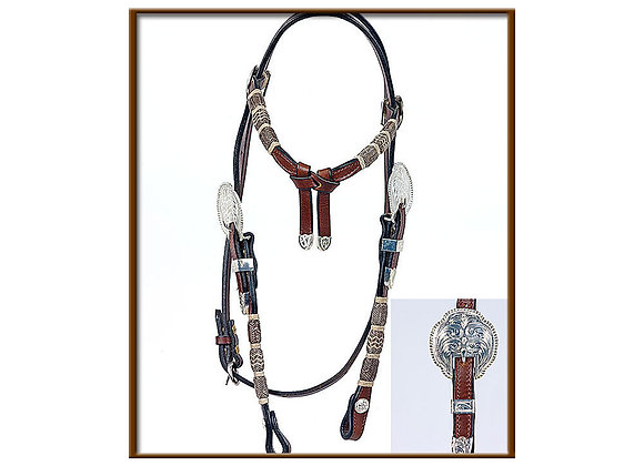 Steve Guitron with Benny Guitron Design Braiding Headstall