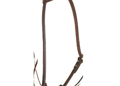 CowpersonTack Cowboy Harness Leather Slide Ear Headstall
