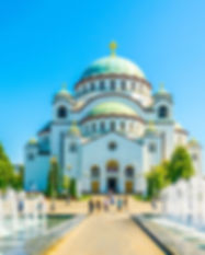 View of the saint sava cathedral in Belg