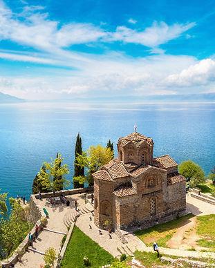 Jovan Kaneo church in Ohrid in a beautif