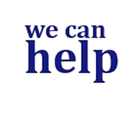 Blue image text saying 'we can help'