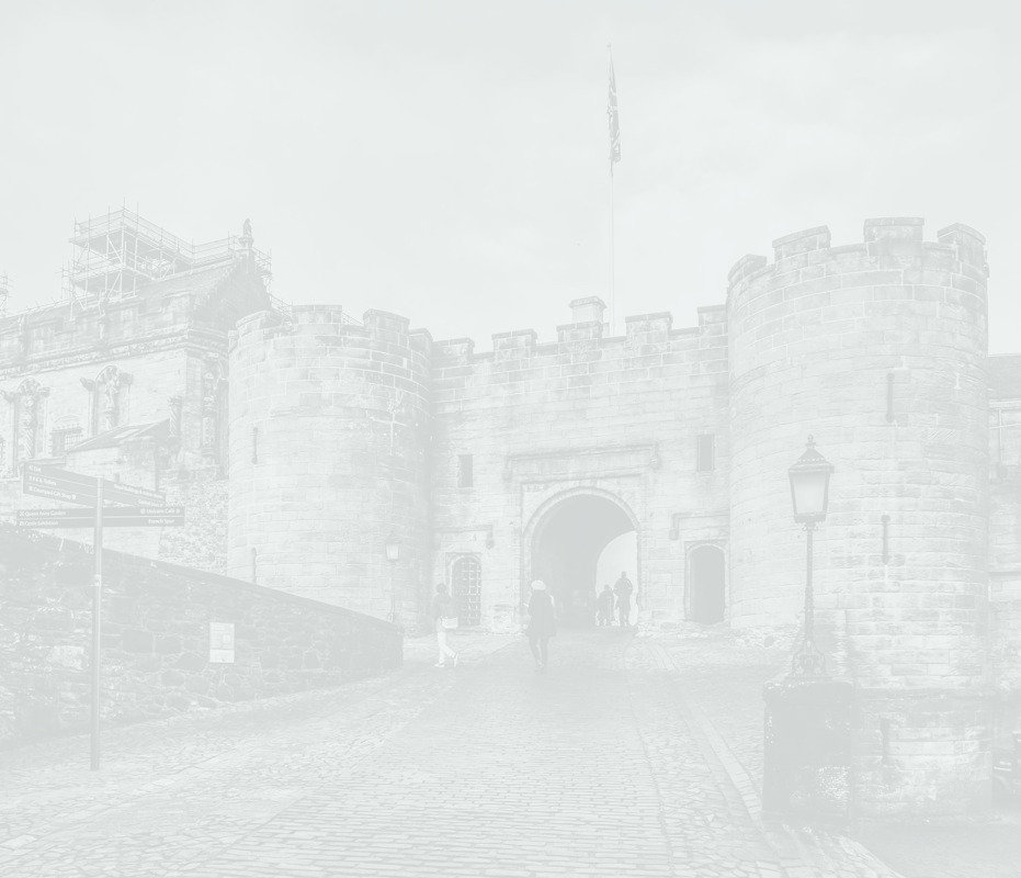 Pale background photo of Stirling Castle
