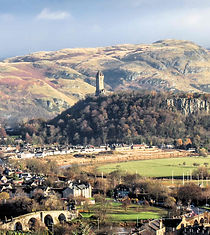 Wallace monument and Stirling Old Bridge