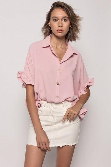 Camisa Folhos