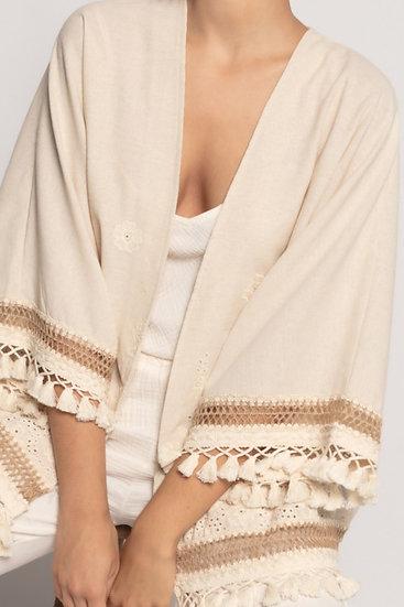Kimono Linho & Bordado