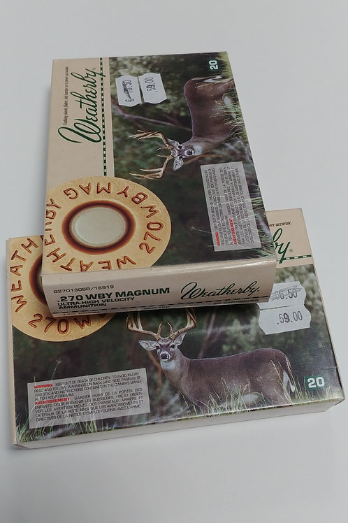 Weatherby 270 WBY Magnum 130 Gr.