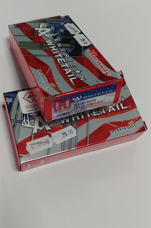 Hornaday American Whitetail 30-30 Win 150Gr. Inter Lock