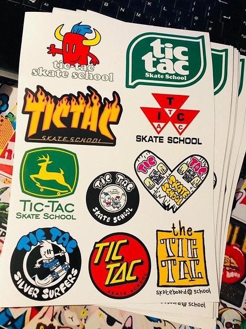 Tic Tac Sticker Sheet