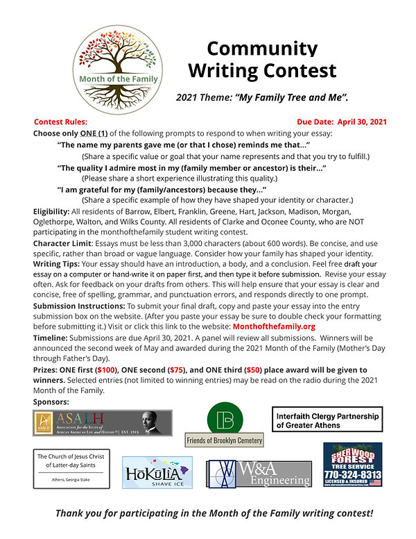 Community Writing Contest with logos.jpe