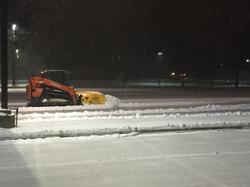 Snow Logic Trac Loader Pushing Snow