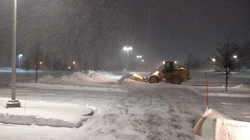 Snow removal in a snow storm