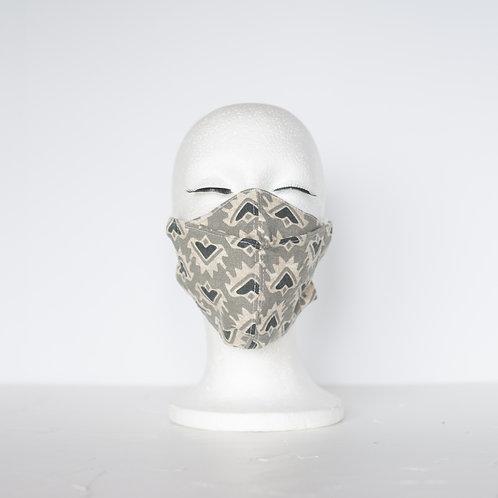 The Beak Mask — Granite Geometric Print