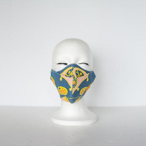The Beak Mask — Carrot Orange + Cornflower Blue