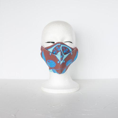 The Beak Mask — Denim Blue + Chocolate