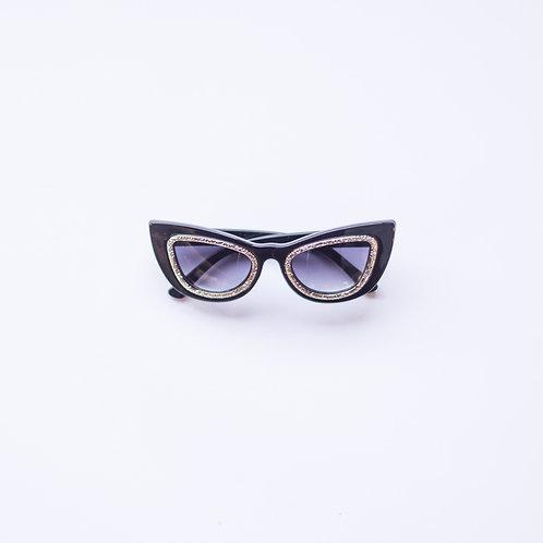 Black + Silver Cat Eye Sunnies