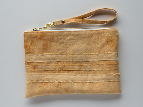 The Perfect Clutch — Rust Dyed Linen in Shades of Ecru