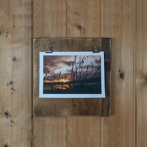 Handmade Wooden Clip Frame for Displaying Art