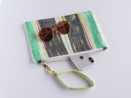 The Perfect Clutch — Earthy Striped Linen