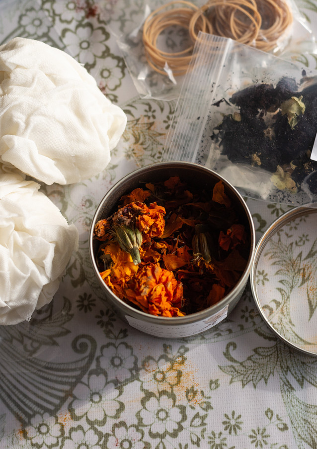 Natural Dyeing with Dried Flowers