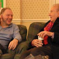 Robert Winn and Wibb chatting