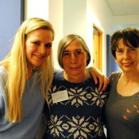 Abbie, her Mum Sue who helped for many years, and Anna Pope