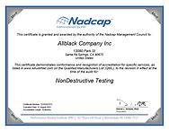 Certificate Nadcap (Aerospace) NonDestru