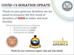 COVID-19 DONATION UPDATE