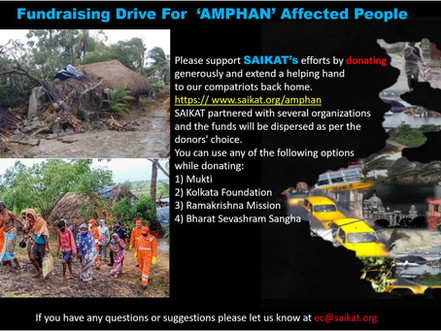 Fundraising Drive for 'AMPHAN' Affected People