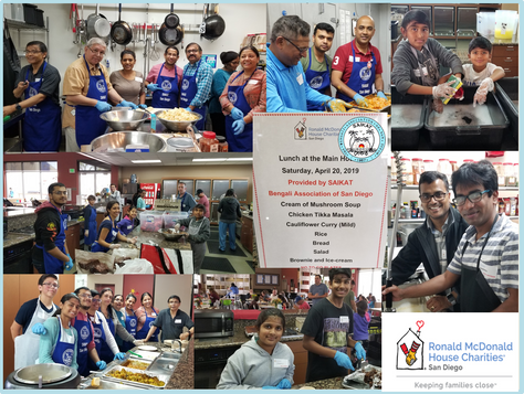 Saikat's Charity - RMHC on April 20, 2019