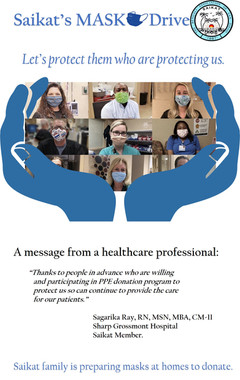 Appeal for PPE (Face Masks) Donation for Healthcare Professionals.