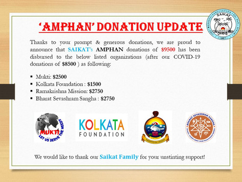 'AMPHAN' DONATION UPDATE