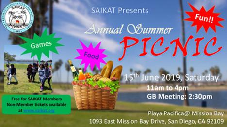 Summer Picnic on June 15, 2019