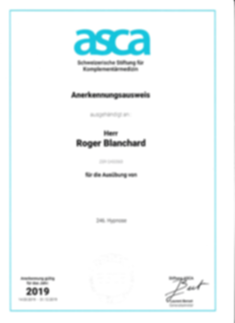 Roger Blanchard ASCA_Anerkennungsbestäti