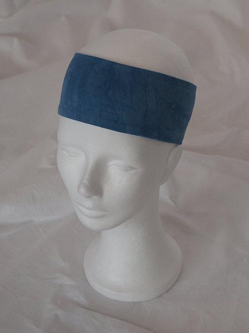 no-waste Haarband BW-Jersey indigogefärbt 7 cm breit