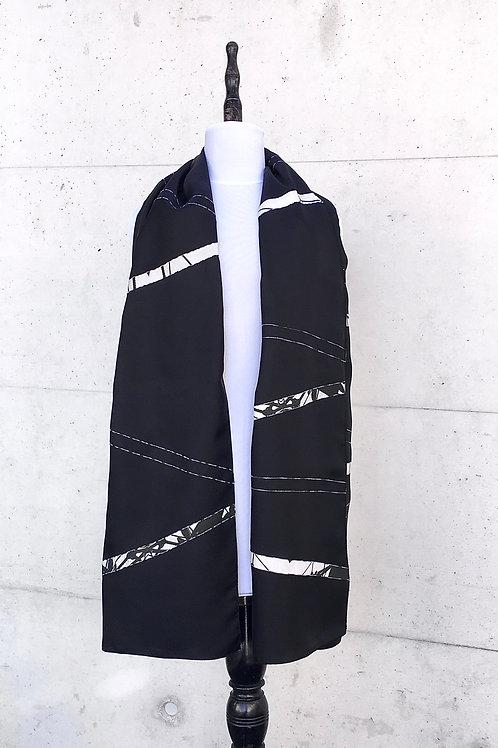 Schal aus Seide Twill mit Photodesign