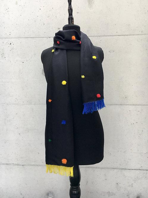 Schal aus Schweizer Seide mit CH-Merinowolle